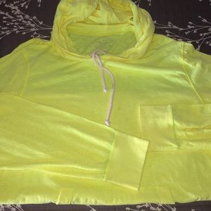 American eagle men's yellow cotton hoodie size XL